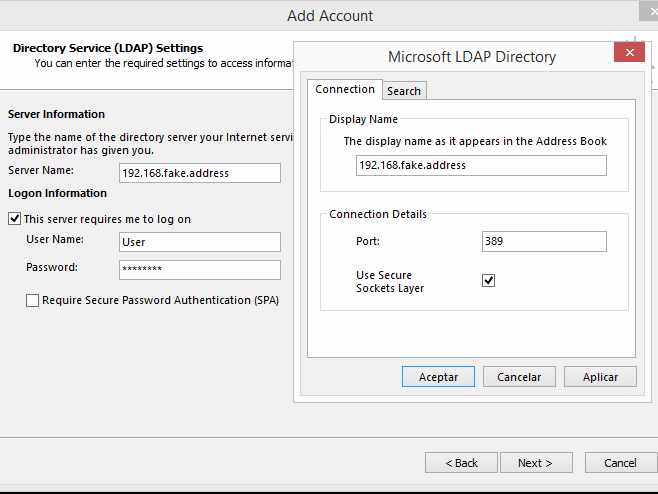 Setting Up Outlook To Use Ldap Address Book Kerioconnect Support